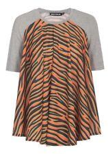 House Of Holland Orange Zebra Print Draped Sz 4