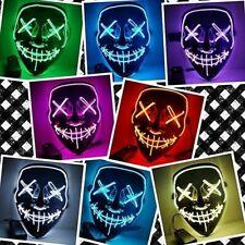 Halloween LED Masque de lumière Halloween Costume Fournitures pour Festival Masq