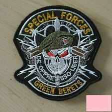 US ARMY Green Berets Team Badge Patch Lace Warfare Special Operations Velcro New