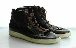 53-43 MSRP $169.95 Men's Size 41EU ECCO Soft 7 Burgundy Leather High Top Sneaker