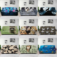 Personalized Animal Printed Slipcover Sofa Protector Soft Elastic Covers 1/2/3/4
