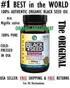 ORIGINAL Black Seed Oil Capsule 500mg Nigella sativa Cumin Kalonji AMAZING HERBS