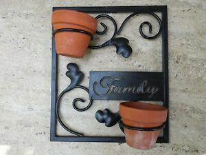 Metal Plant Pot Holder wall decor decoration Family gift candle plant stand