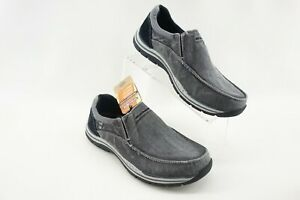 Skechers Relaxed Fit Men's 7.5 US Expected Avillo Gray Extra Wide Loafer 64109EW