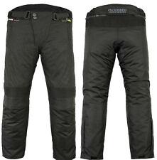 Mens CE Armoured Textile Cordura Motorcycle Motorbike Waterproof Trousers Pants