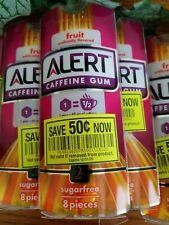 Alert Caffeine Fruit Gum, 8ct/8pks, 64 Total, Exp. 4/2019