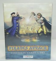Flat Square Pirates Attack Strategic Card Game Cooperative Play 2 Player New