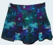 $40 NWT SUPRE DIGITAL PALM PRINT SKORT 10 mini skirt shorts PURLE TEAL TROPICAL