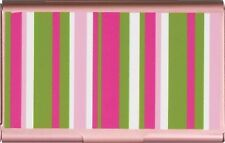 Business Card/Gift Card/Credit Card/Money Case-Wellspring-#2405 Pink Stripe