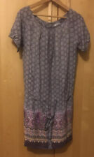 La Redoute Soft Grey Silk grey/multi colour Pattern dress size 10 UK