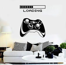 Vinyl Wall Decal Gaming Art Joystick Loading Video Game Stickers Mural (ig4195)