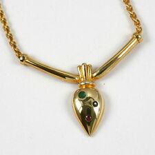 Echtschmuck-Halsketten & -Anhänger im Collier-Stil mit Rubin und Smaragd