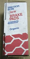 BRAND NEW FRICTION PLUS FRONT RIVETED BRAKE PADS D3 FITS *SEE CHART*