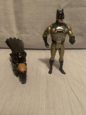 Vintage Batman figure Kenner 1990, 1978 Batman On Motorcycle,& 2013 McD's Batman