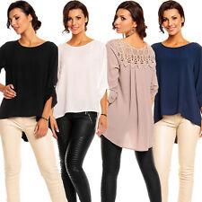Damenblusen,-Tops & -Shirts im Tuniken-Stil mit Rundhals und Polyester ohne Muster