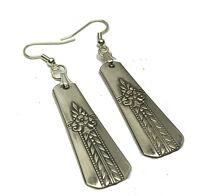 Spoon Earrings 1939 Oneida Vernon Romford Vintage Antique Art Deco Silverplate