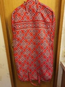 "VERA BRADLEY quilted 100% COTTON large GARMENT BAG ""FRANKLY SCARLET"" NWOT"