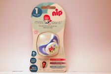 NEW NIP Miss Denti 0-6 Month Silicone Soother Baby Dummy Infant Pacifier Blue