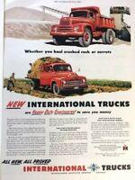 1950 IHC International Truck Vintage Advertisement Print Art Car Ad Poster LG69