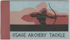 1930s Osage Archery Bows, Arrows & Accessories Illustrated Catalog