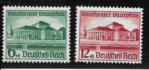 #0673# Deutsches Reich 1938: Gautheater, Nr. 673-674 (Satz) postfrisch **