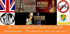 Tomb Raider I + II + III Steam key NO VPN Region Free UK Seller