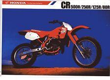 1988 HONDA CR500RJ CR250 CR125 CR80 6 Page Motorcycle Brochure NCS