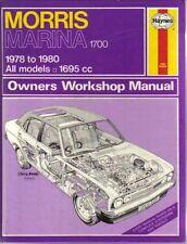 Morris Marina 1700 Owners Workshop Manual 1978-1980 all models