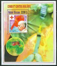 GUINEA BISSAU 2014 BATTLE AGAINS MALARIA RED CROSS SOUVENIR SHEET
