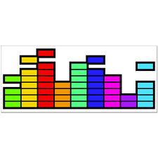 "Equalizer Music DJ car bumper sticker decal 4"" x 4"""