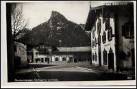 Oberammergau Bayern alte Postkarte 1929 gelaufen Dorfpartie mit Kofel Häuser