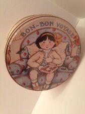 """Mary Engelbreit Bon Bon Voyage 1986 Vintage Round Tin 5-1/4"""" x 3"""""""