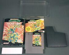 TEENAGE MUTANT NINJA TURTLES 2 II ARCADE GAME COMPLETE 1990 NES Nintendo TESTED