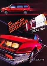 1984 Dodge Daytona Charger Ram Truck 8-page Advertisement Brochure Ad J847