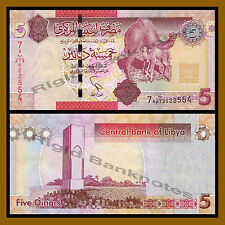 Libya 5 Dinars, ND 2009 P-77 Camel Unc