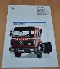Mercedes Benz 2435 S Truck Brochure Prospekt 0789