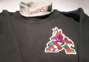 Phoenix Coyotes Youth Sweat Shirt XL Turtleneck NHL Majestic 50/50 Vintage