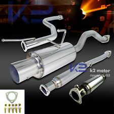 For 92-00 Civic Stainless High Flow Exhaust Test Pipe+Catback Exhaust Muffler