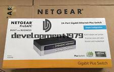 NetGear ProSafe JGS524E 24-Port Gigabit Ethernet Rackmount Switch New