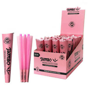 JUMBO DUTCH PINK GREEN BLACK BROWN King Size Pre Rolled Smoking Cones PACK OF 3