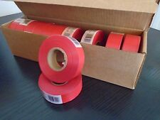 FLAGGING / MARKING TAPE-SURVEYING / GROUNDWORKS 12 ROLLS RED 30 MM X 92 M