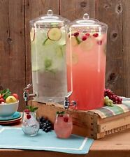 Beverage Dispenser Drink Pitcher Gallon Stand Juice Tea Cold Ice Party Serve NEW
