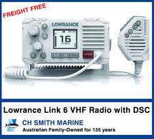 LOWRANCE LINK-6 White DSC VHF Australian MARINE RADIO FREIGHT FREE