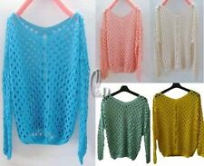 Cotton Blend Long Sleeve Casual Knit Women's Tops & Blouses