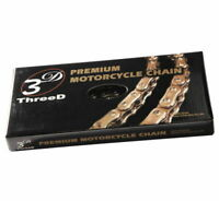 EK 520 GP SX2 O-Ring 3D Premium Chain 120 Links Black/Gold