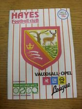 06/04/1988 Hayes v Yeovil Town  (folded). Unless previously listed in brackets t