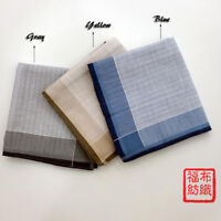 New 100% Cotton Pocket Square Striped Handkerchiefs Bussiness Hanky 43*43cm