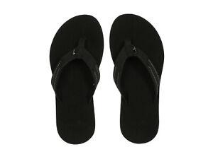 Women Sanuk Yoga Mat Stacker Flip Flop Sandal 1111335 Black 100% Original New