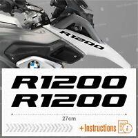 2pcs Adesivi Nero compatibile Moto BMW R 1200 GS LC R1200 ADVENTURE R1200GS