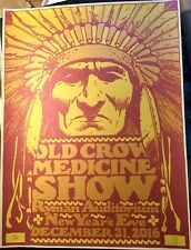 2016 Old Crow Medicine Show Ocms New Year'S Eve Ryman Print Poster Signed #/100